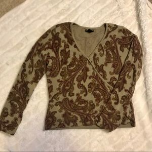 Vintage Paisley Cashmere Sweater